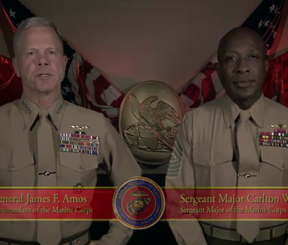 Welcome, Homos! Love, The Marines