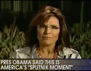 Palin Thinks Soviets Won Space Race – WTF, Indeed!