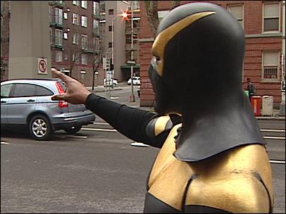 Real Life Superhero Gets Ass Kicked