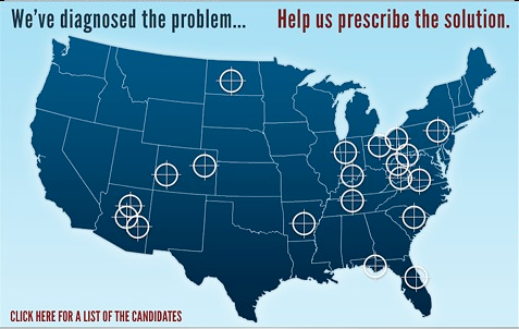 rhetoric, sarah palin crosshairs, targets map