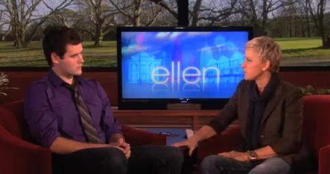 Zach Wahls Does Ellen (Her Show, You Perv)