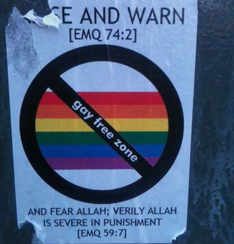 """Gay Free Zone"" Stickers Appear In East London"