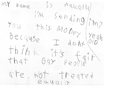 7 Year Old Boy Donates His Money To HRC; Amazes/Shames All