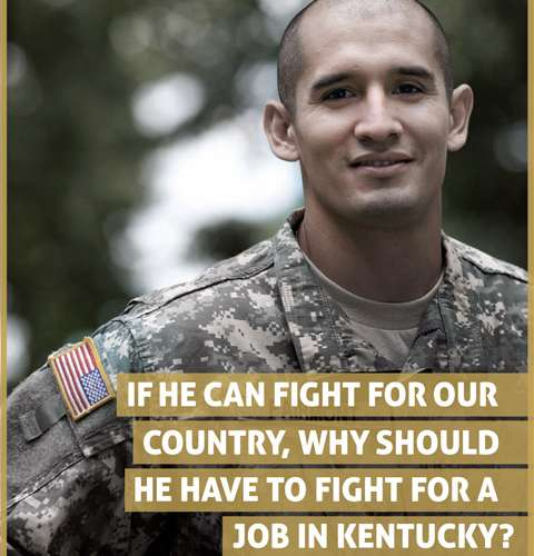 If He Can Fight For Our Country, Why Should He Have To Fight For A Job In Kentucky?