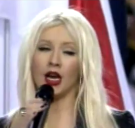 Christina Aguilera Forgets Words, Botches The National Anthem
