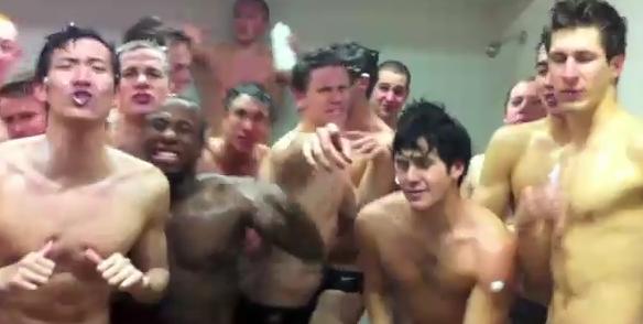 "Swim Team Speedo Shower ""Teenage Dream"""