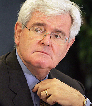Anti-Gay Newt Gingrich Gets Glitter-Bombed By Protestor