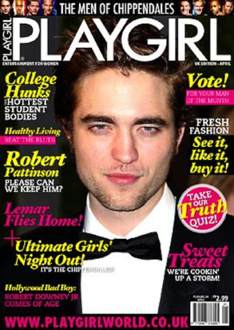 Robert Pattinson Does Playgirl
