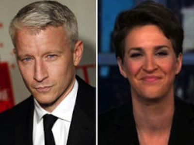 Rachel Maddow Outs Anderson Cooper, Denies Outing Him, Outs Him Again