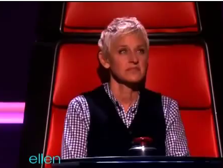 Ellen Joins the Gays on 'The Voice!'
