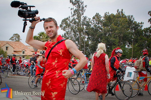 AIDS/LifeCycle: The Fabulous, Extravagant Red Dress Day