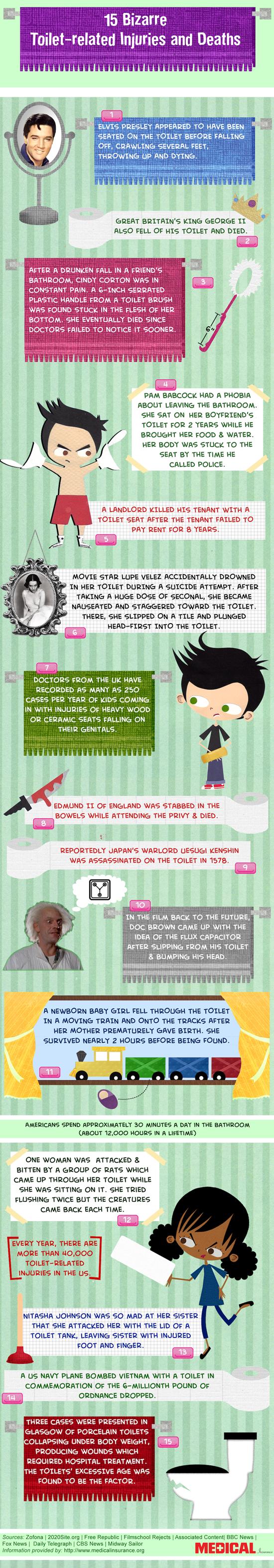 toilet injury, toilet death, toilet infographic, infographic