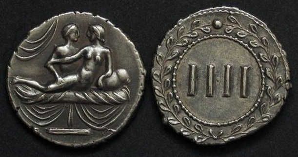 spintria, sex coins, roman sex coins, sex currency