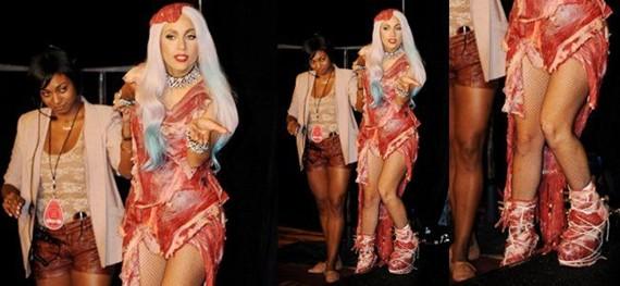 lady gaga meat dress jerky, lady gaga meat dress jerkied, lady gaga meat dress hall of fame