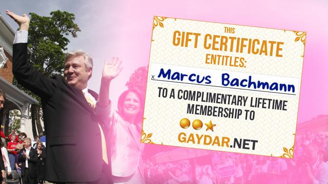 Marcus Bachmann's Lifetime Membership to Gay Sex Site, Gaydar
