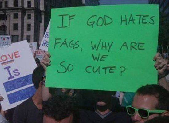 If God Hates Fags, Why Are We So Cute?