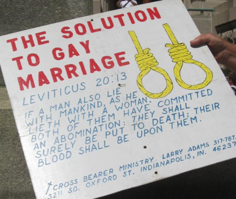NOM KKK, NOM lynching, NOM noose, NOM hang the gays, the solution to gay marriage