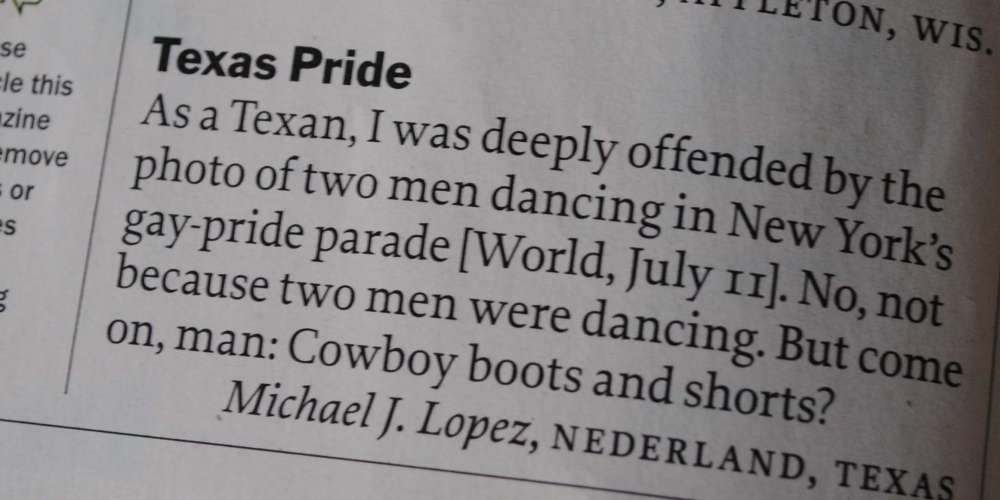 What Was So 'Deeply Offensive' About Texas Pride?