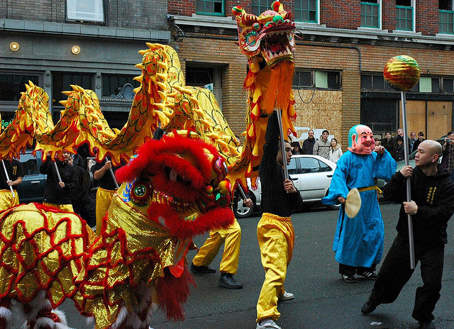 seattle, international district, chinatown, dragon parade, Chinese new year