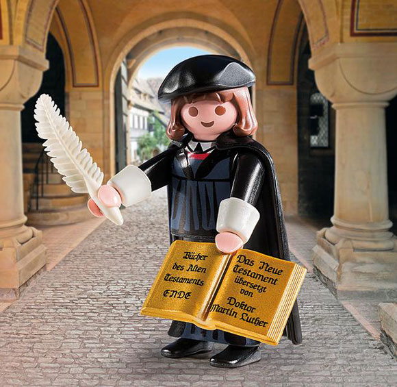 Martin Luther, playmobil, toy, plastic figurine