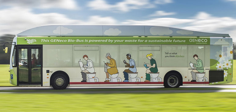 Behold! The Bus That Runs On Human Poop