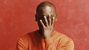 black man, facepalm, embarassed