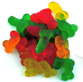 eat a bag of dicks, penis-shaped candy