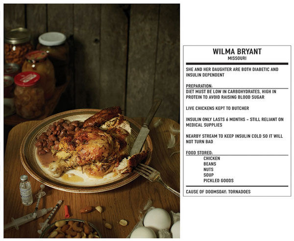 doomsday preppers, last meal, henry hargreaves, photographer, photo, picture, dinner, meal, food, end of the world
