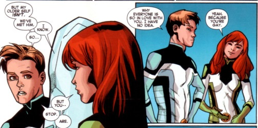 iceman comes out to jean grey, iceman tells jean grey he is gay, gay iceman