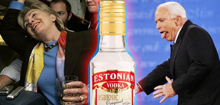 Hillary Clinton Once Beat John McCain In A Vodka Drinking Contest