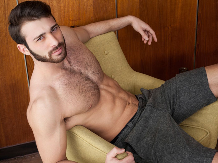 Jarec Wentworth, Teofil Brank, gay porn star, actor, performer, homosexual, adult film, Randy Blue, Men.com, hairy, muscular, handsome, man