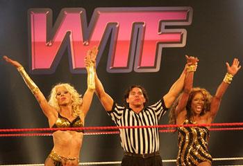 rupaul's drag race, season 4, four, logo, logo tv, drag queens, wrestling, glow, glorious ladies of wrestling, referee
