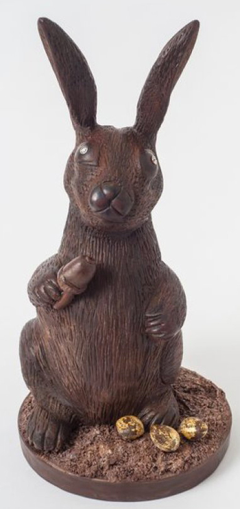 chocolate bunny, $49,000, expensive, easter, diamonds for eyes