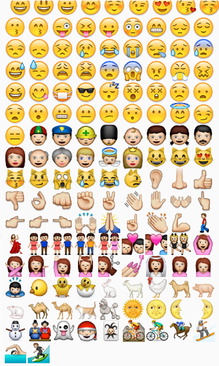 white face, yellow skin, skinned, faced, faces, emojicon, emoticon, gay blog, iOS