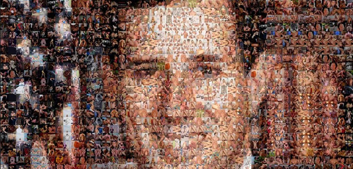 OMG! A Rick Santorum Portrait Made Entirely Out Of Gay Porn (NSFW)