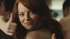 emma stone, gay blog, thumbs up, bisexual, smile
