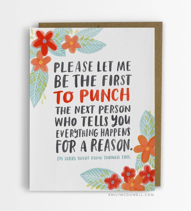 emily mcdowell, sympathy card, greeting card, cancer, serious illness, gay blog
