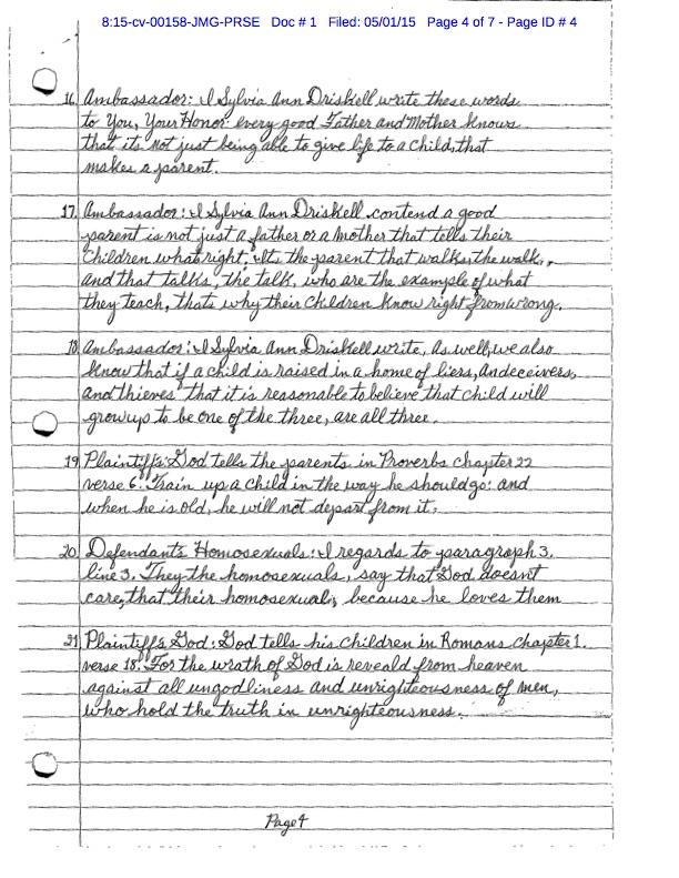 sylvia driscoll,homosexuals,court case,nebraska