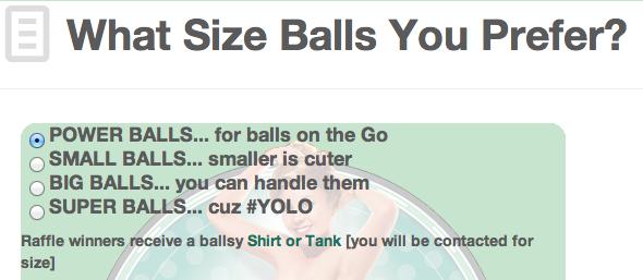 What Size Balls?