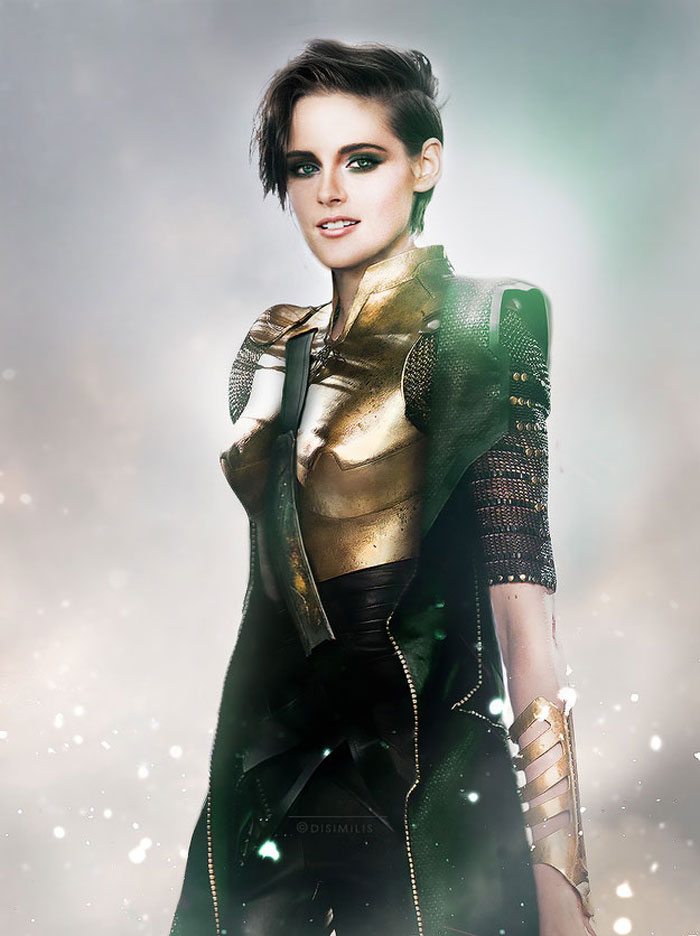 Kristen Stewart, avengers, gender swap, hawkeye, loki, black widow, iron man, the hulk, dr. bruce banner, thor, captain america, gay blog, tumblr, lgbt, queer, women, superheroes, marvel