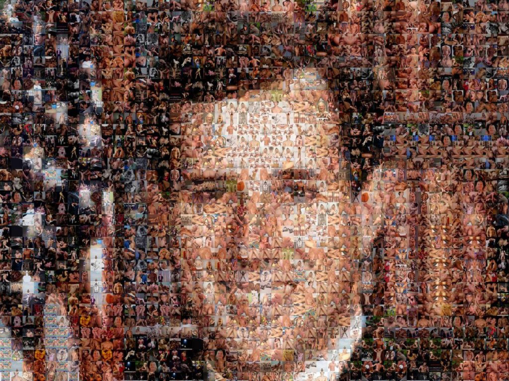 rick santorum portrait made out of gay porn