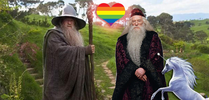 Dumbledore and Gandalf Are Getting Gay-Married Tomorrow, For Reals