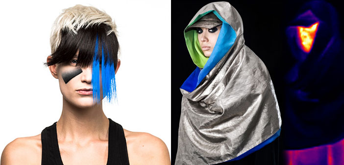 FOTOS: Maquiagem Anti-Vigilância e Moda Combinam Artístico com Futurístico