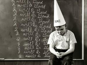 dunce cap, student, boy, school, chalkboard, in trouble, bart simpson, gay blog, queer, lgbt