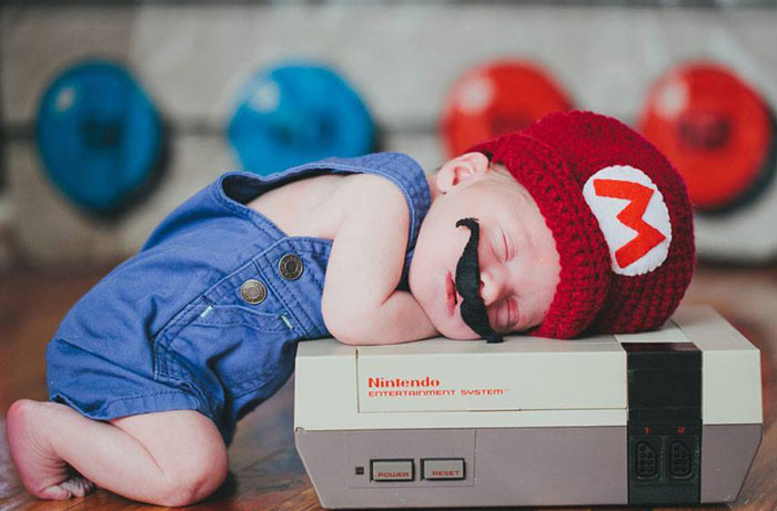 super mario brothers, baby, superhero, comic book, famous, fantasy, photo, image, photograph, picture, cute
