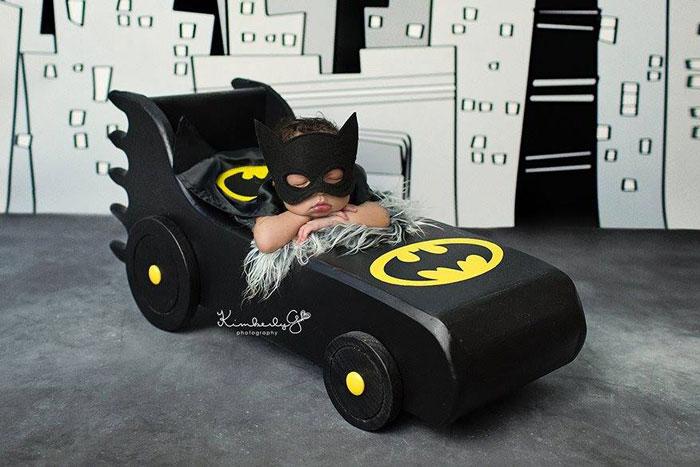 baby, superhero, comic book, famous, fantasy, photo, image, photograph, picture, cute, batman