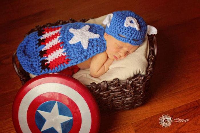 captain america, baby, superhero, comic book, famous, fantasy, photo, image, photograph, picture, cute