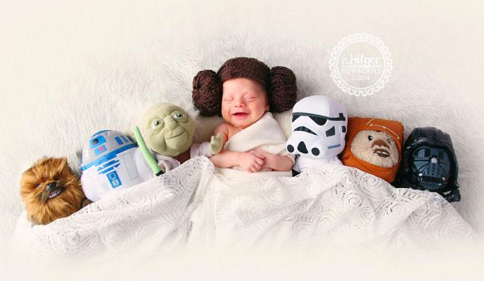 baby, superhero, comic book, famous, fantasy, photo, image, photograph, picture, cute, princess leia, star wars