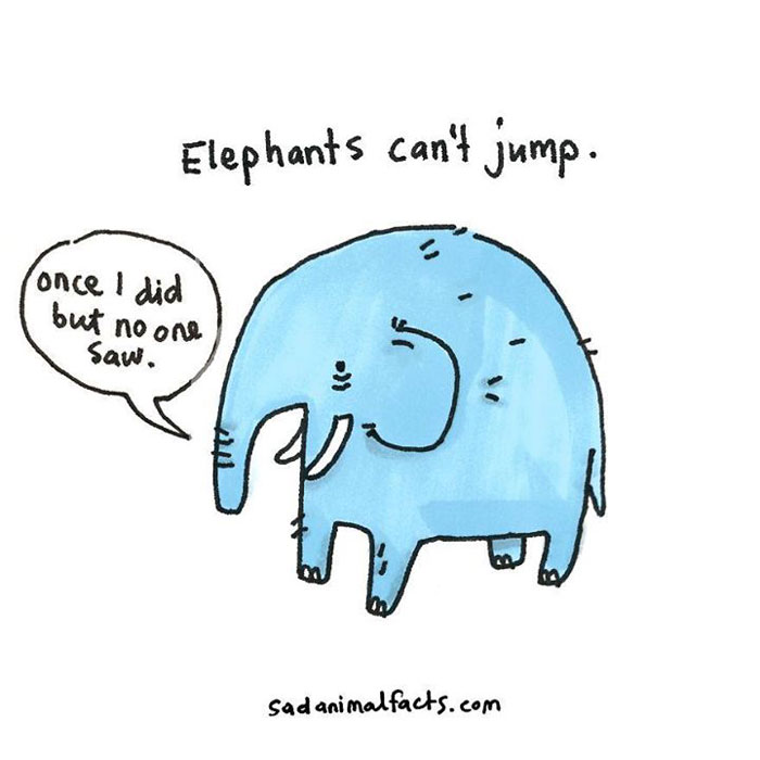 elephants, sad, animal facts, cartoon, gay blog, queer, lgbt, funny