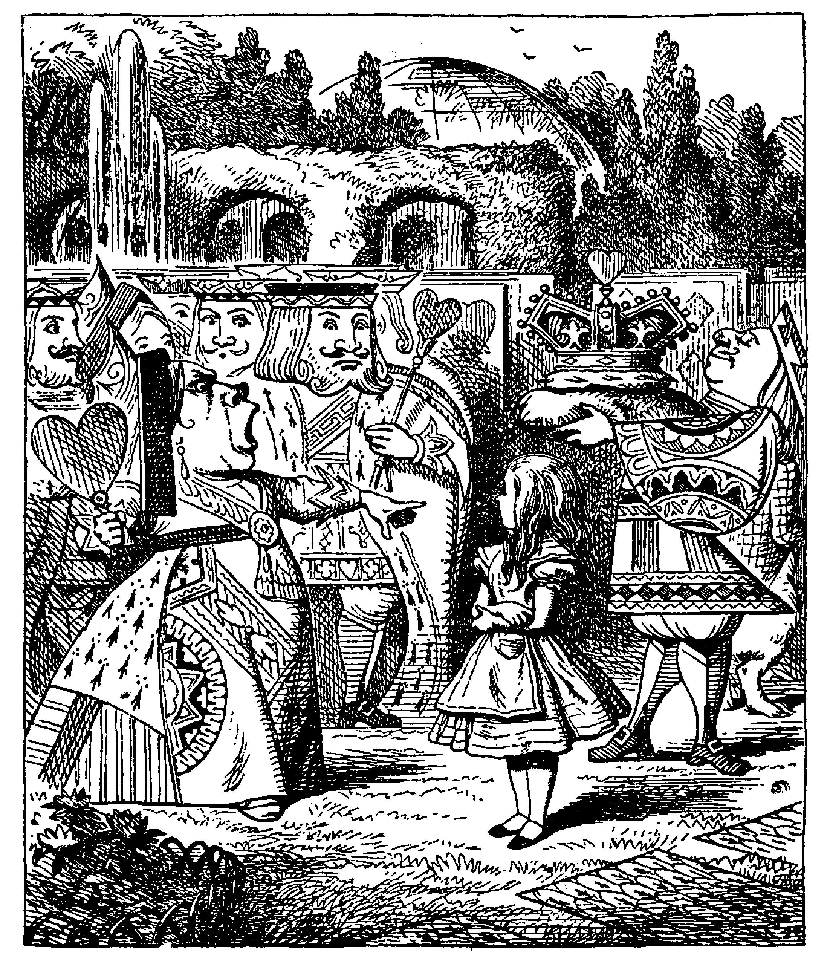 queen of hearts, alice in wonderland, John Tenniel, off with her head